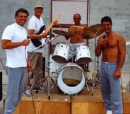 Jailhouse Rock with Carmine Perico on the drums, Anthony Senter and Mark Reiter on vocals and J.R. Russo on guitar.
